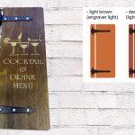 vinska karta izrađena od drva
